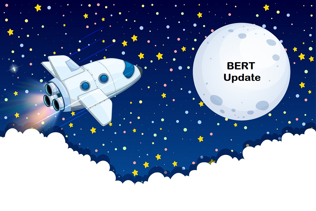 BERT update spaceship flying moon