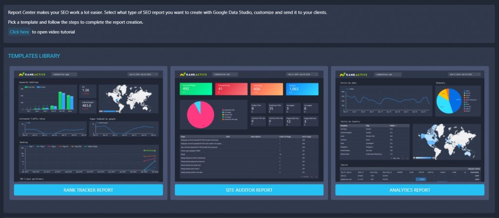 data studio reports