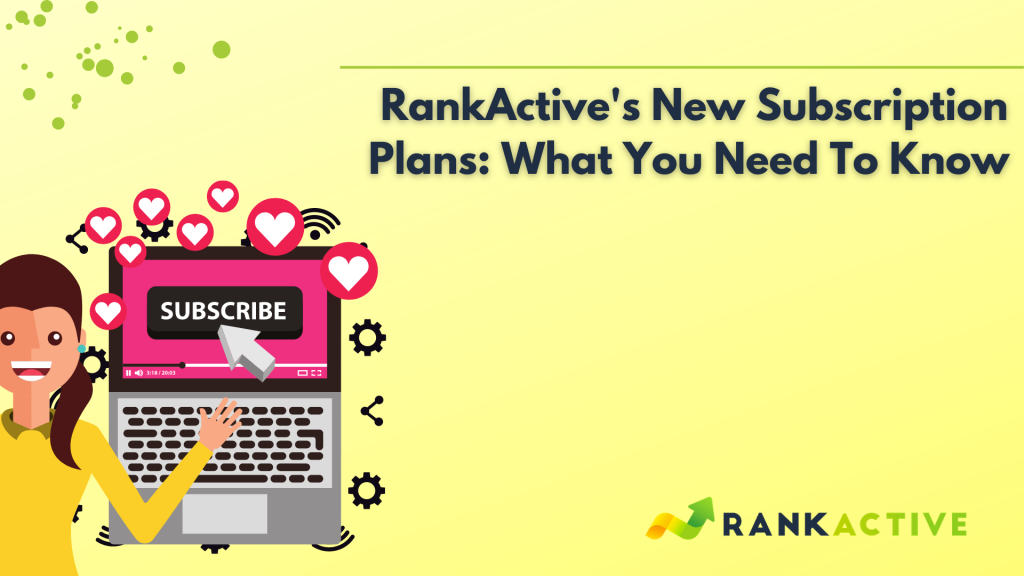 new subscription plans in RankActive