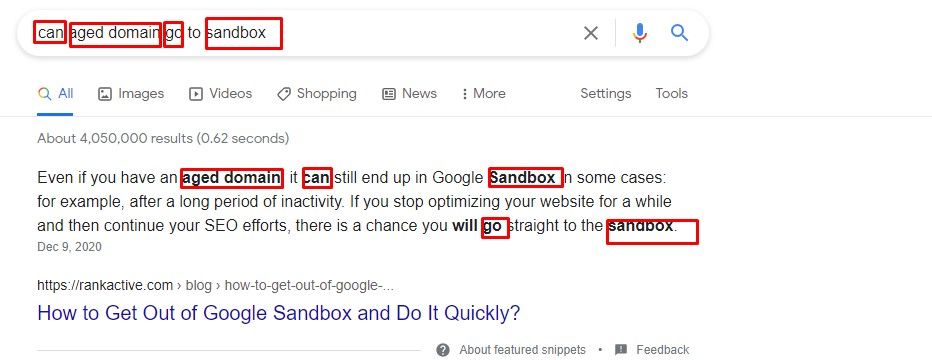 natural language helped us get to a featured snippet. Jealous?
