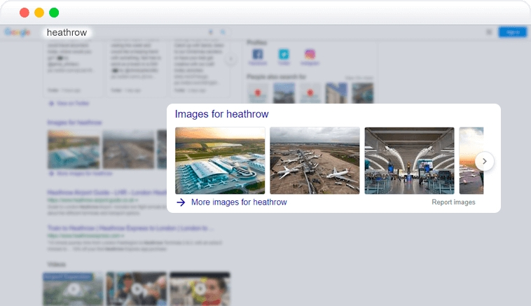 images element in SERP