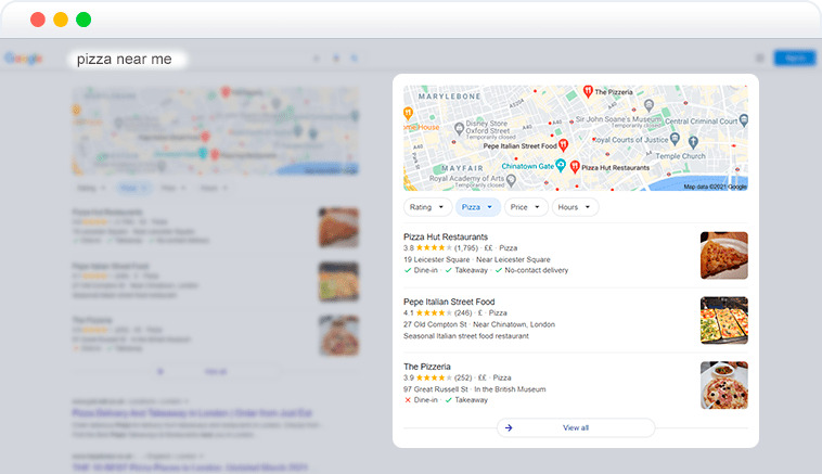 local pack element in SERP