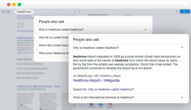people also ask element in SERP