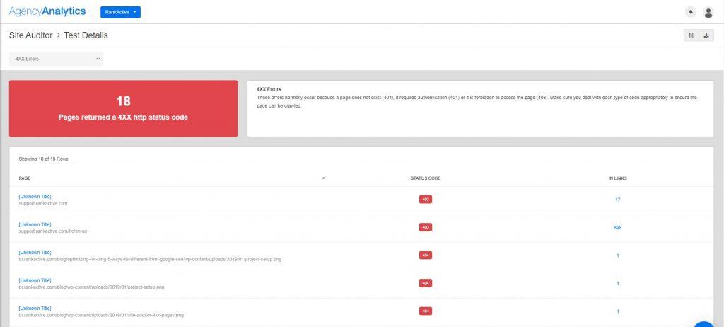 agencyanalytics site auditor