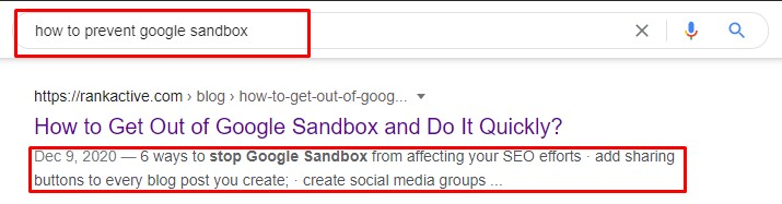 Google rewrote our manually specified description to match the query better