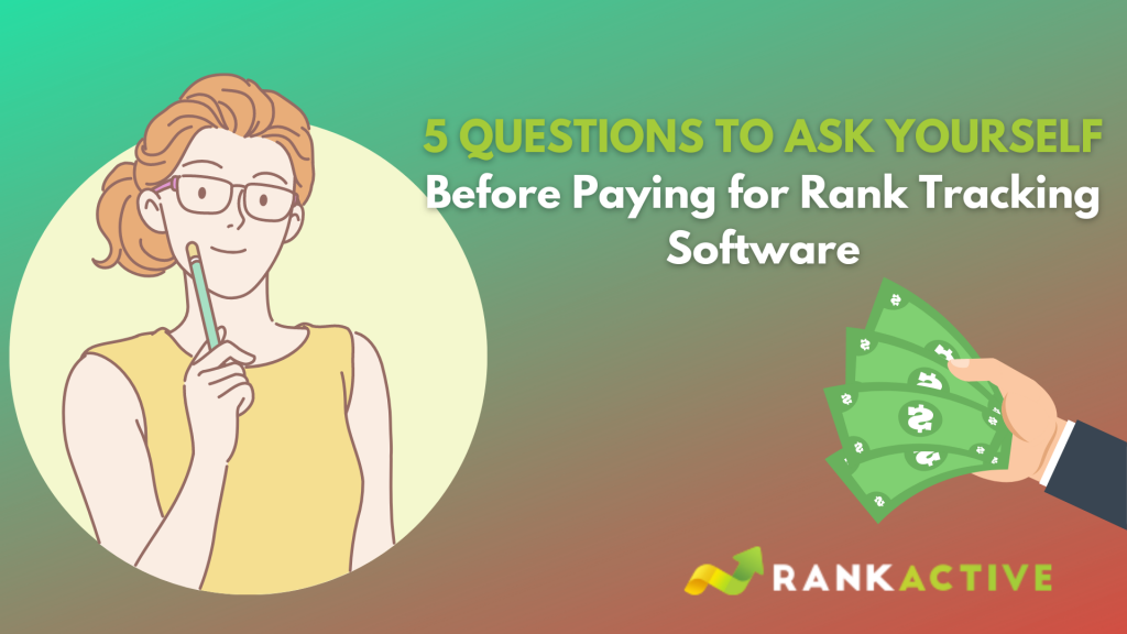 Check this before paying for rank tracking software